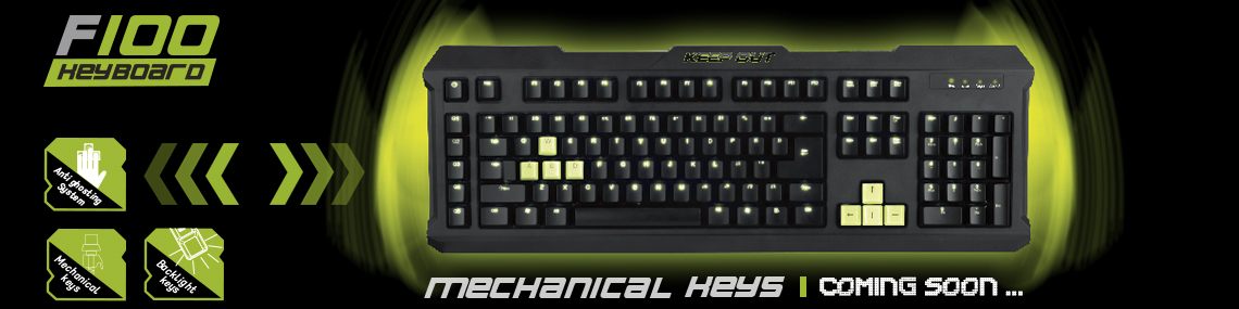 Keep Out F100 keyboard
