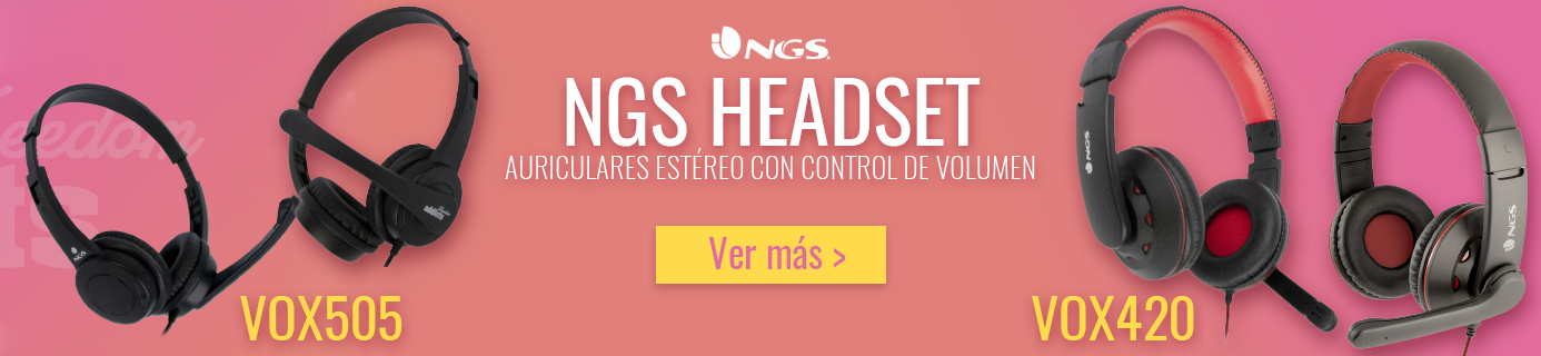 Ver Auriculares NGS VOX505 / VOX420 USB con Micrófono